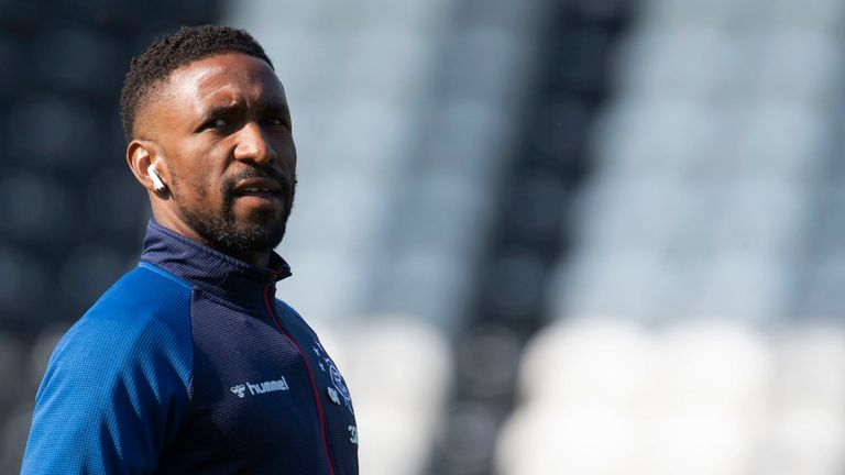 Defoe had earlier scored for Rangers in Saturday's 5-0 win over Aberdeen