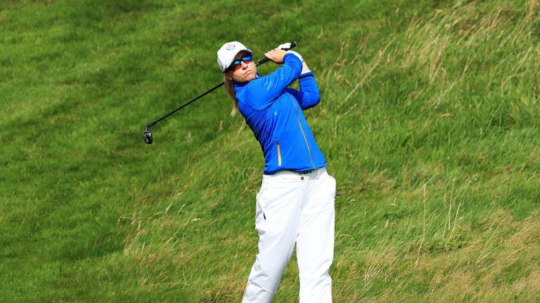 Jodi Ewart Shadoff won the opening hole but struggled from there