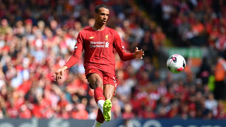 Joel Matip felt he should have had a penalty when he was bundled over by Jamaal Lascelles in the box