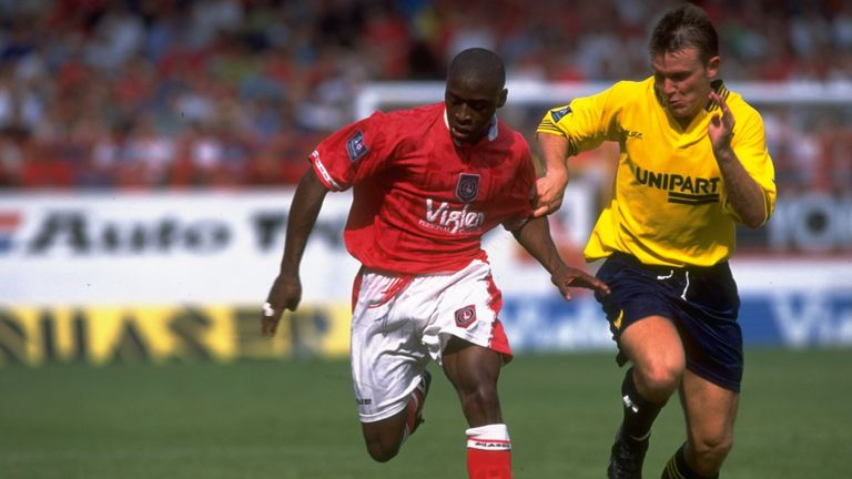 Beauchamp in action for Oxford United against Charlton