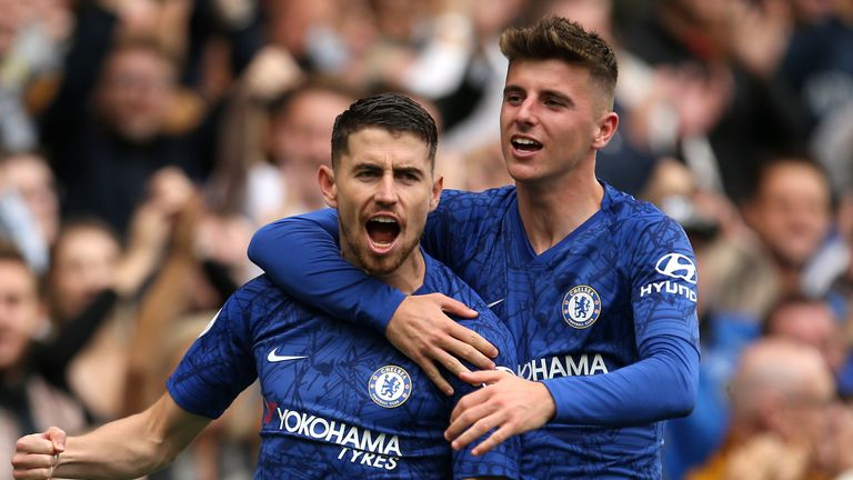 Jorginho (left) and Mason Mount could both miss out for Chelsea