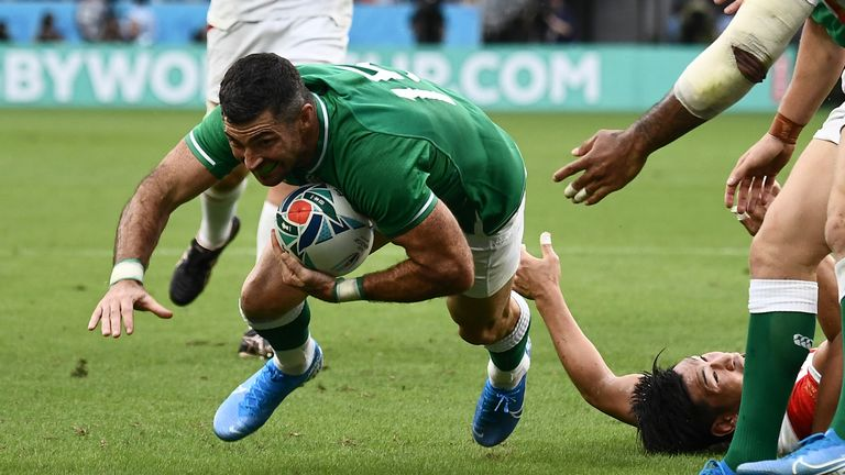 Rob Kearney added a second Ireland first-half try as they seemed to take control of the game