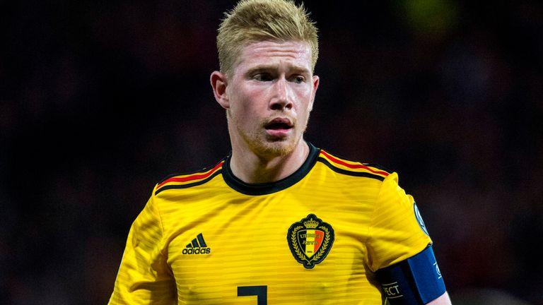 Kevin De Bruyne scored Belgium's fourth goal at Hampden Park against Scotland