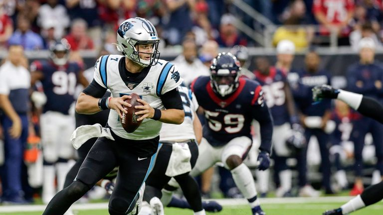 Kyle Allen has been a huge surprise as the starter for Carolina