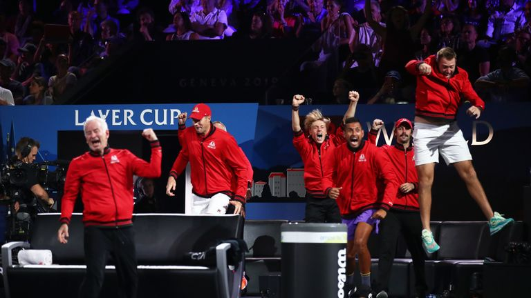Team World looked to be heading for a first Laver Cup success after Taylor Fritz's early victory