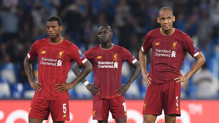 Liverpool suffered a frustrating night in Naples