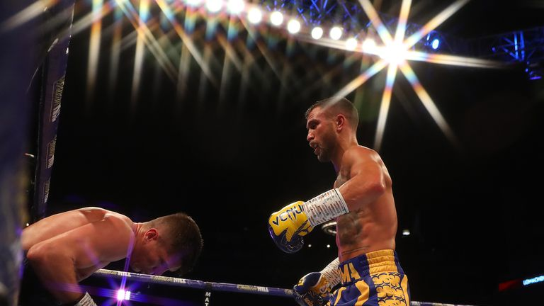 Vasiliy Lomachenko nearly stopped Luke Campbell in the fifth