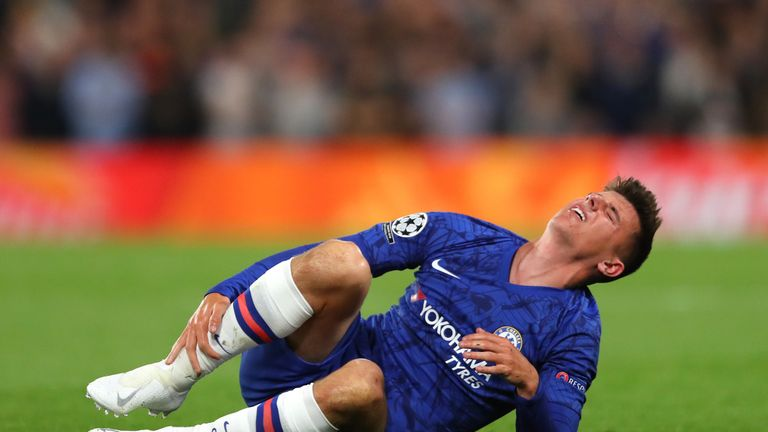 Mason Mount was forced off after 16 minutes at Stamford Bridge