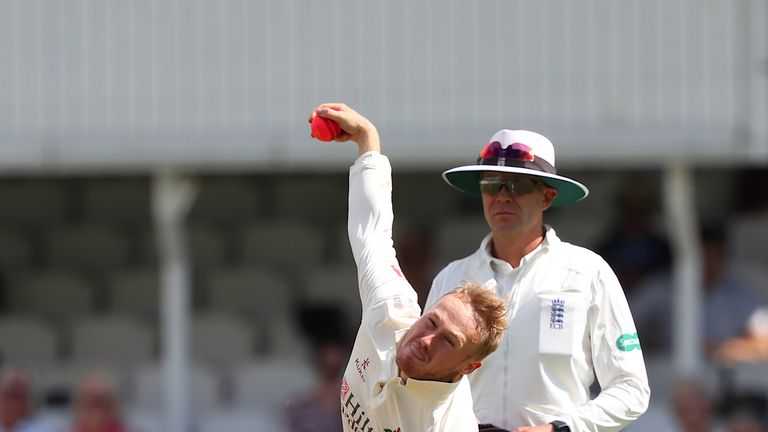 Lancashire spinner Matt Parkinson took two wickets on the day of his England call-up