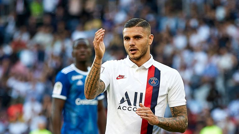 On-loan PSG striker Mauro Icardi is in no rush to decide his future