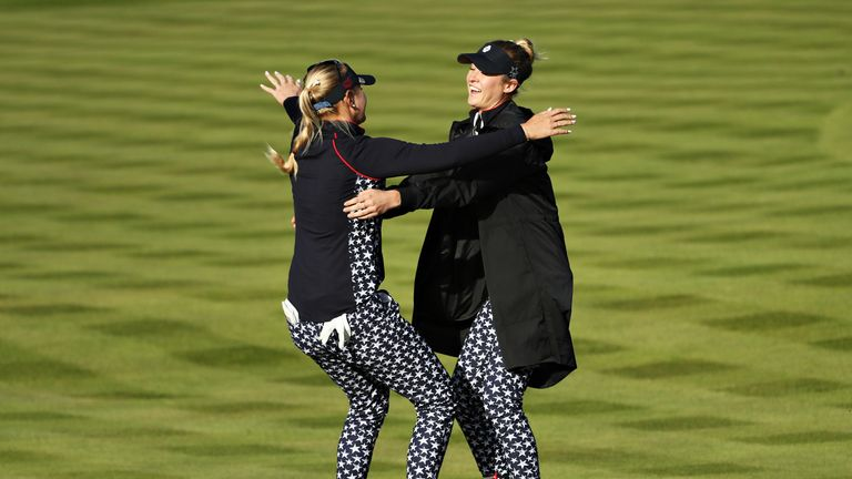 Nelly and Jessica Korda played a starring role for USA at the Solheim Cup