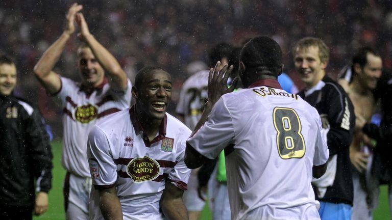 Northampton knocked Liverpool out of the competition in 2010