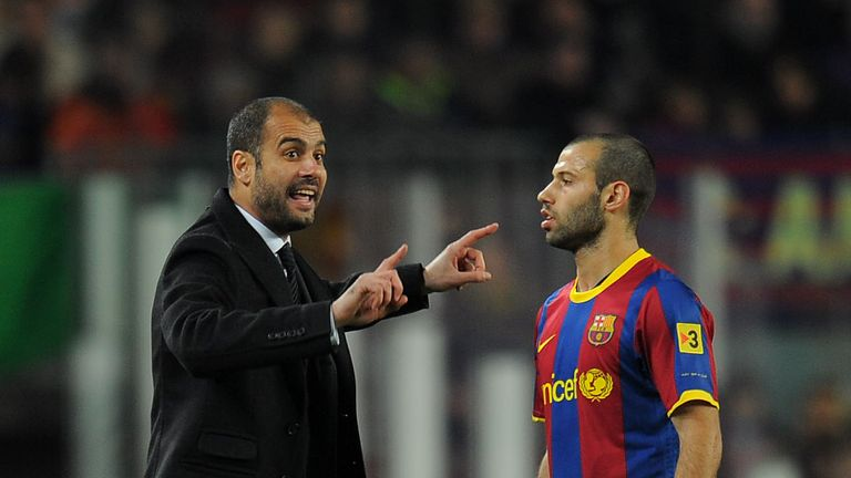 Guardiola won the Champions League at Barcelona in 2011 with Javier Mascherano at centre-back