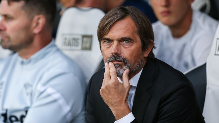 Cocu's Derby are currently 13th in the Championship table