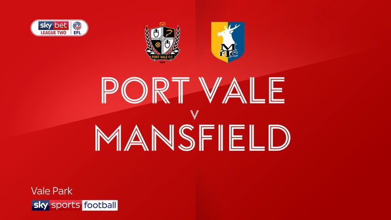 Port Vale 2-2 Mansfield: Nathan Smith rescues point for Valiants