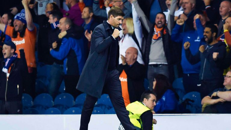 Rangers manager Steven Gerrard saw his team earn a deserved 1-0 win over Feyenoord at Ibrox