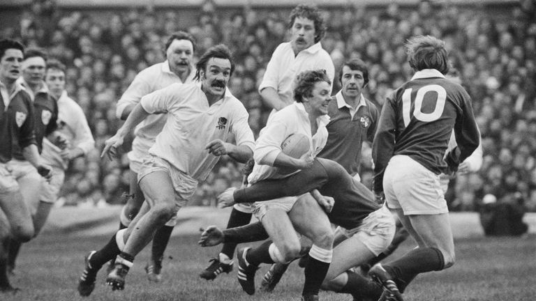 Roger Uttley from Gosforth RFC is the fifth member of the 1979 North of England pack