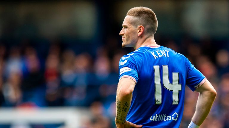 Rangers winger Ryan Kent suffered a hamstring injury against Livingston at Ibrox