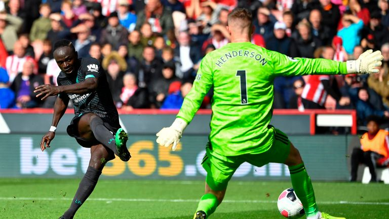 Sadio Mane squandered two glorious first-half chances