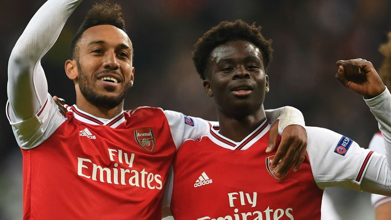 Bukayo Saka inspired Arsenal to victory in Frankfurt