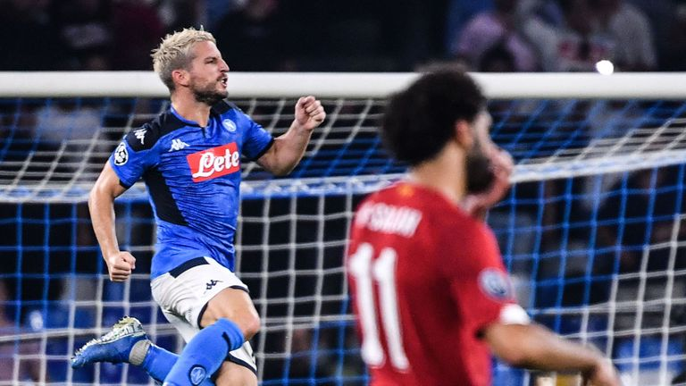 Dries Mertens scored from the spot after Andy Robertson brought down Jose Callejon