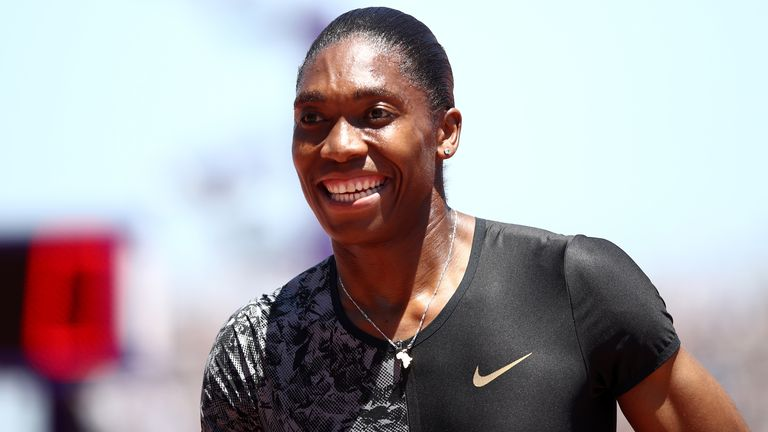 Caster Semenya is back on track but still awaiting a definitive result from her legal battle with World Athletics