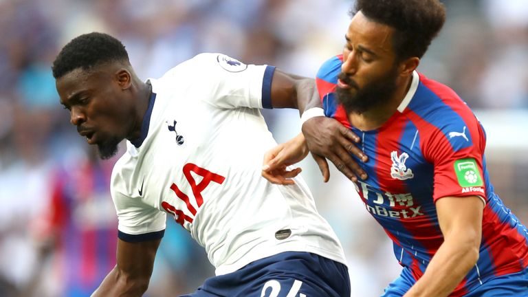 Serge Aurier was in inspired form against Crystal Palace on Saturday