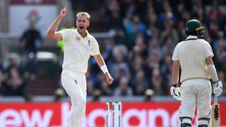Broad starred in The Ashes, taking 23 wickets at 26.65