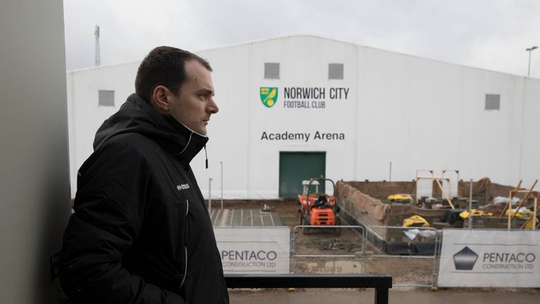 Norwich sporting director Stuart Webber helped guide McCallum through the day