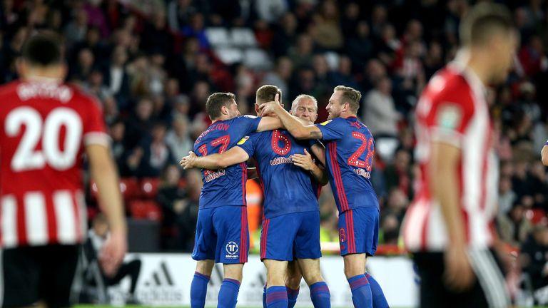 Sunderland's Max Power (6) celebrates scoring the winner against Sheffield United