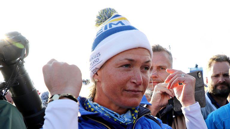 Suzann Pettersen retired following her winning putt at Gleneagles