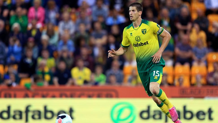 Timm Klose suffered the injury in his only appearance for Norwich this season