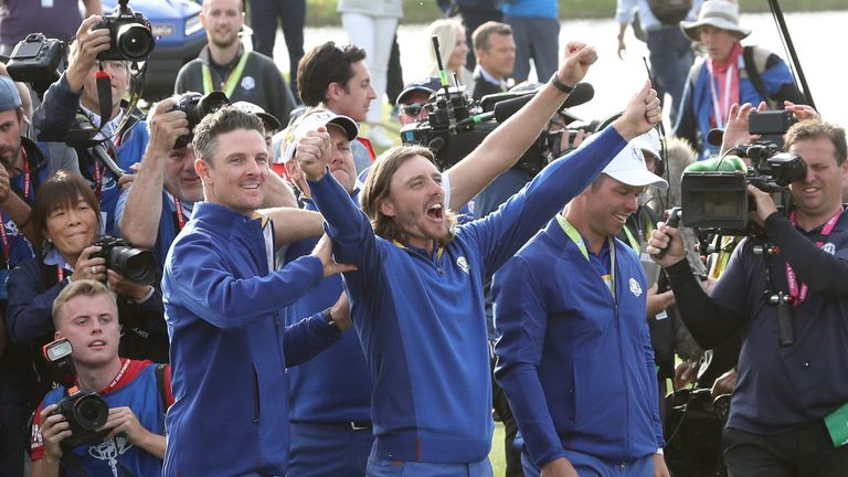 Fleetwood won four points on his Ryder Cup debut in 2018