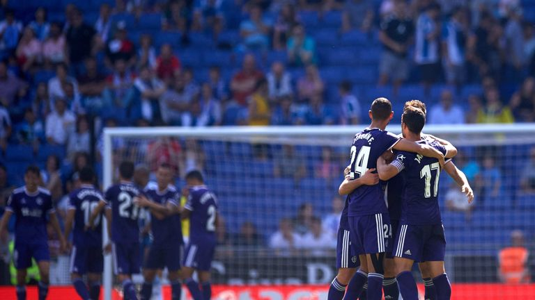 Valladolid heaped the pressure on Espanyol boss David Gallego with a 2-0 win