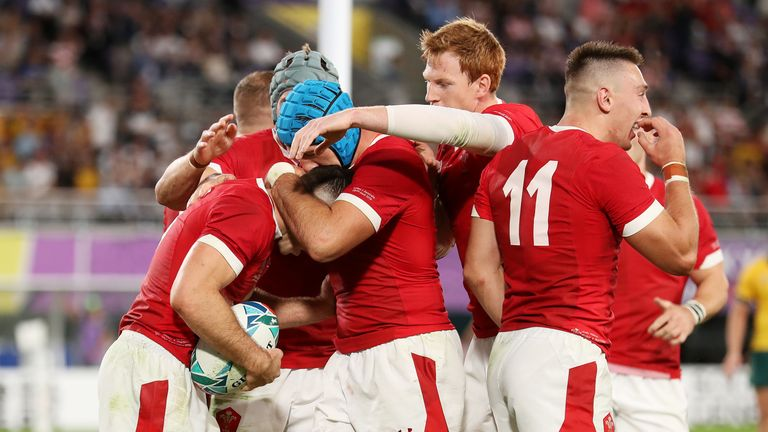 Wales are three points clear at the top of Pool D after victory against Australia