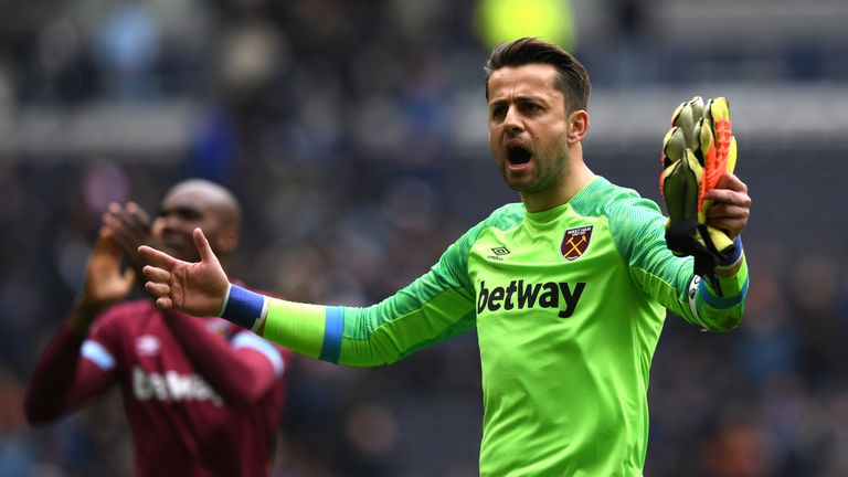 Lukasz Fabianski is recovering after having an operation on a hip injury