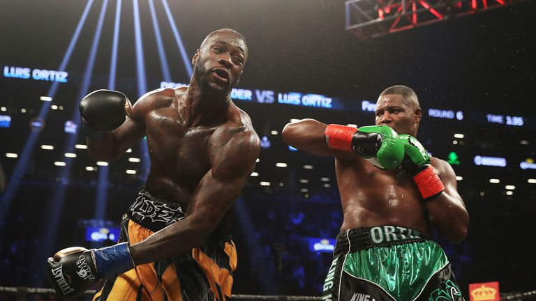 Ortiz gave Wilder major problems