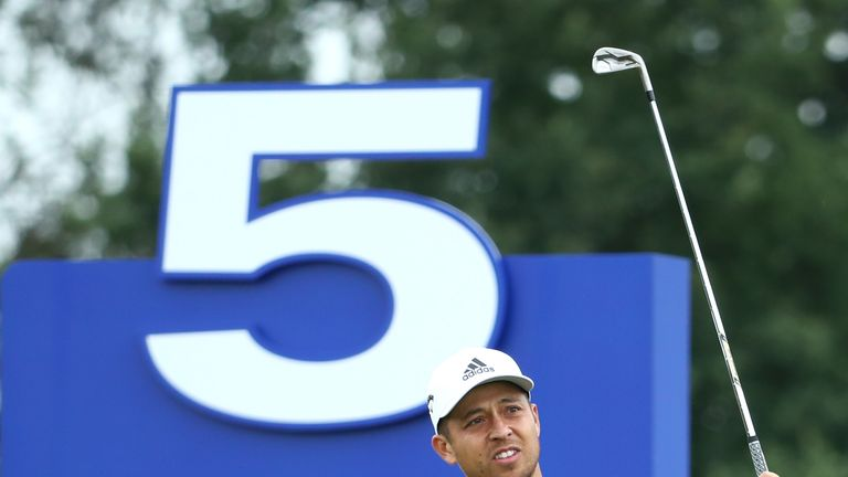 Xander Schauffele got into red numbers but trails MacIntyre by nine
