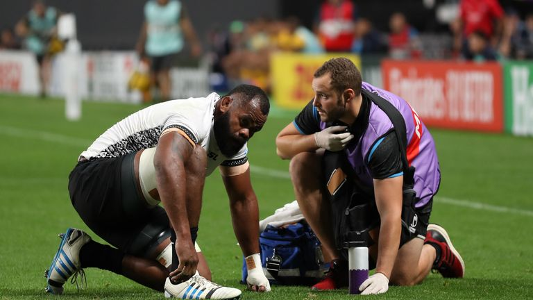Fiji flanker Peceli Yato suffered a concussion after a shot to the head from Australia's Reece Hodge - who escaped any punishment
