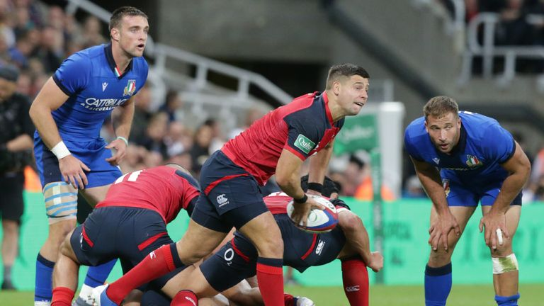Scrum-half Ben Youngs scored the all important opening try from a metre out in the second half