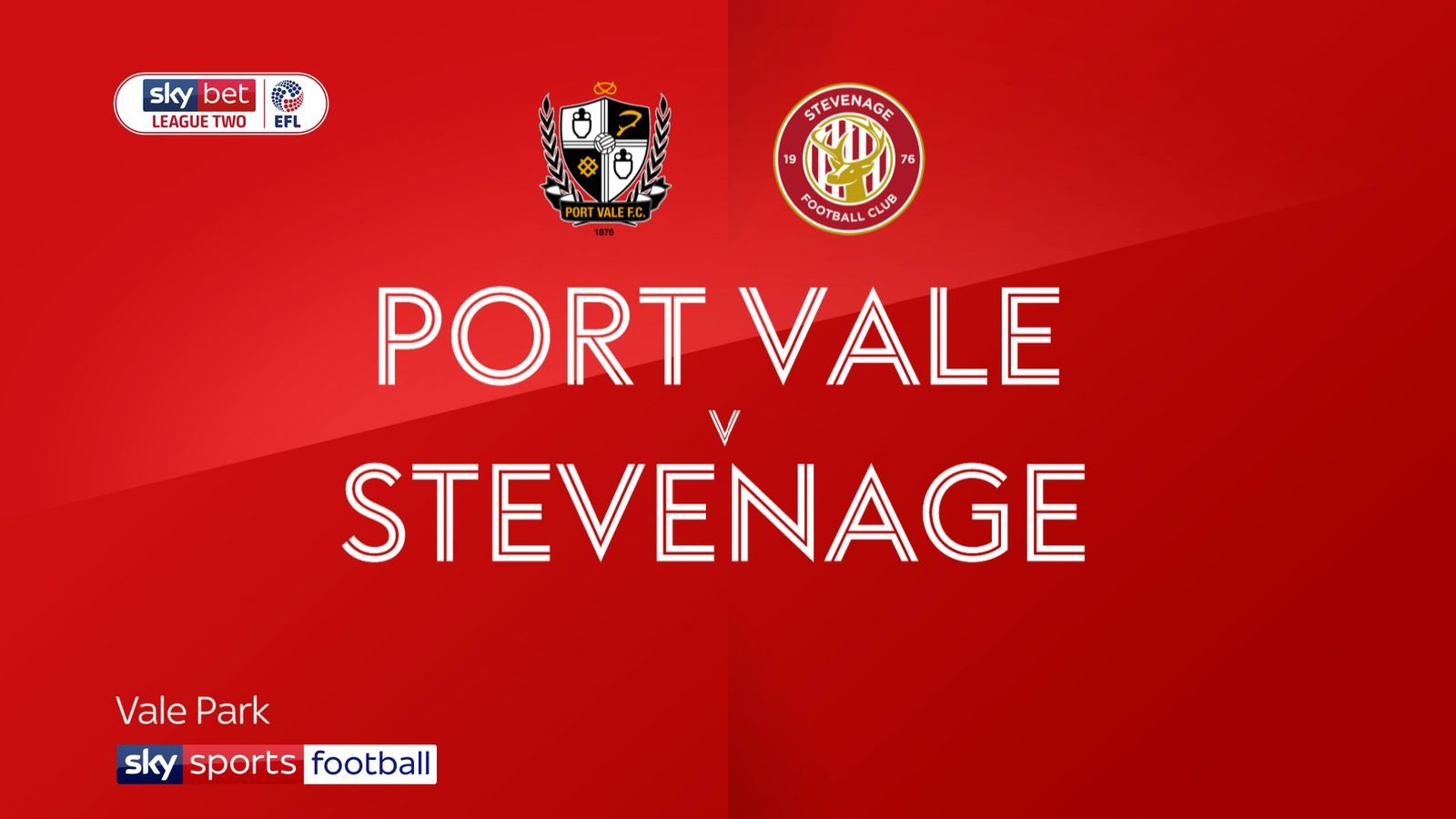 Port Vale 1-1 Stevenage: Spoils shared at Vale Park