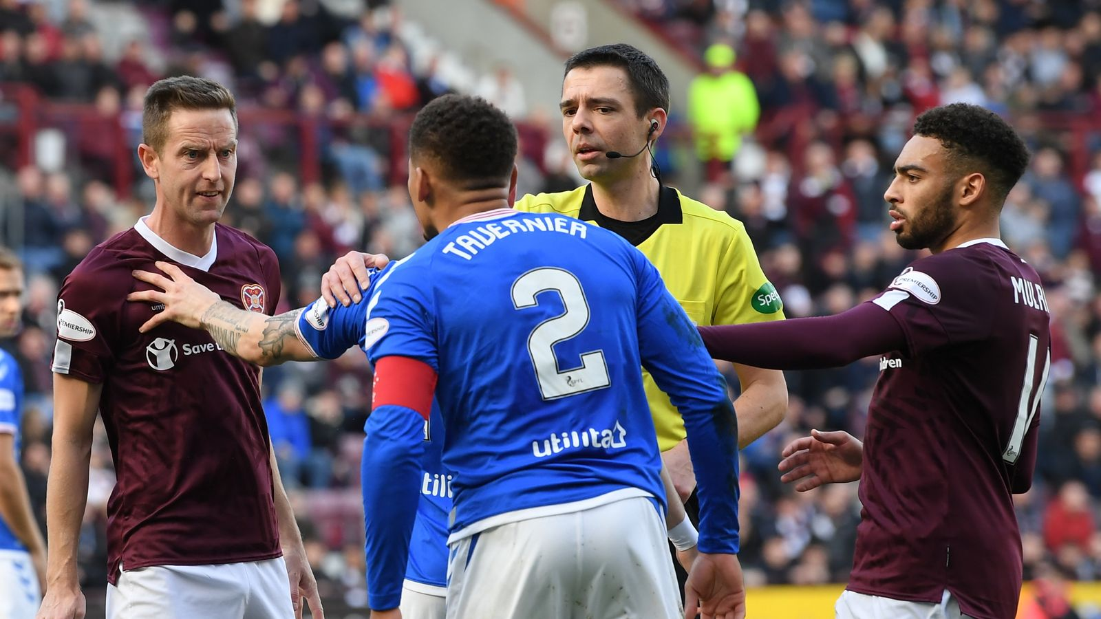 Hearts 1-1 Rangers: Steven Gerrard's side miss out on chance to go top