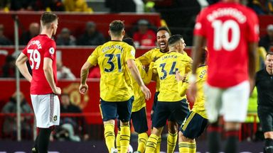 fifa live scores - Arsenal striker Pierre-Emerick Aubameyang's goal at Manchester United in virtual reality!