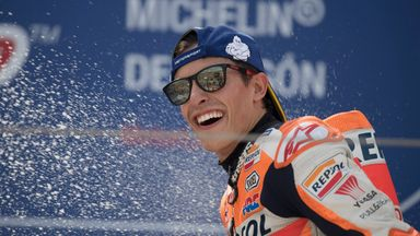 Marc Marquez won his fourth consecutive MotoGP championship on Sunday