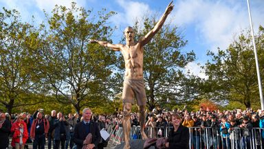 fifa live scores - Zlatan Ibrahimovic honoured with shirtless statue in Malmo