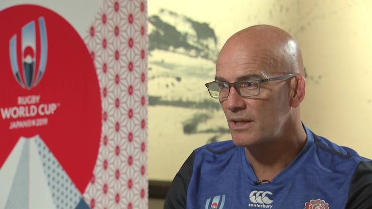 England's defence coach John Mitchell says the team have no idea what the RFU will decide with regards to the typhoon weather warnings ahead of their France clash.