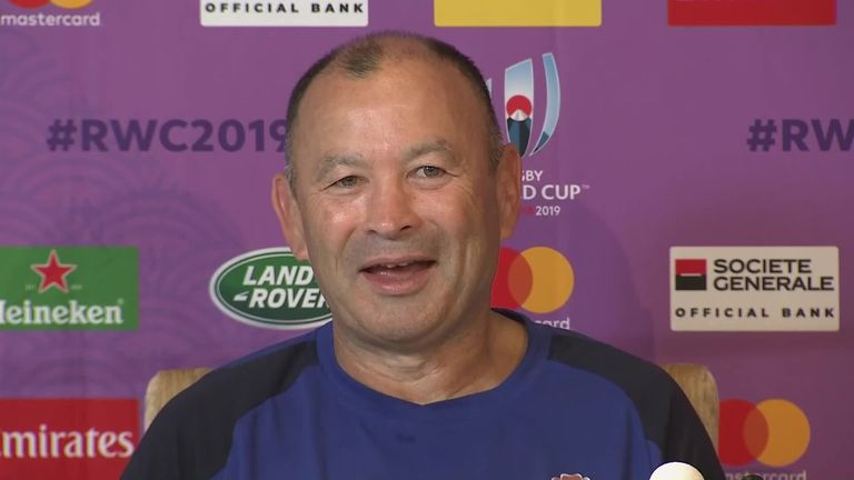 England head coach Eddie Jones says he is disappointed that their Rugby World Cup match with France has been called off but has no issue with it