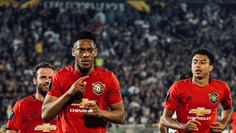 Anthony Martial has scored three goals in four starts this season
