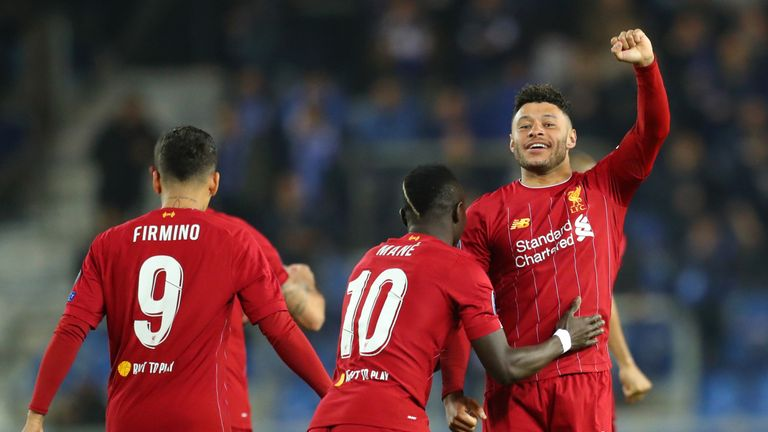 Alex Oxlade-Chamberlain scored for Liverpool against Genk