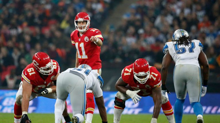 Alex Smith had three total touchdowns as the Chiefs dominated Detroit